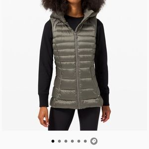 New Lululemon Brave The Cold Vest Gray Sage Sz 6